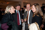 STEFANIA GLADSTONE; THOMAS NAYLOR; GUY GOODFELLOW; MELANIE NAYLOR, Bonhams Auction house hosts festive drinks to preview the first phase of the reconstruction of its Mayfair Headquarters - due for completion in 2013.<br /> Bonhams, 101 New Bond Street, London, 19 December 2011.