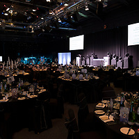 Perthshire Chamber of Commerce Business Star Awards 2017…Crieff Hydro Hotel<br />The room all set-up prior to the start of the awards<br />Picture by Graeme Hart. <br />Copyright Perthshire Picture Agency<br />Tel: 01738 623350  Mobile: 07990 594431