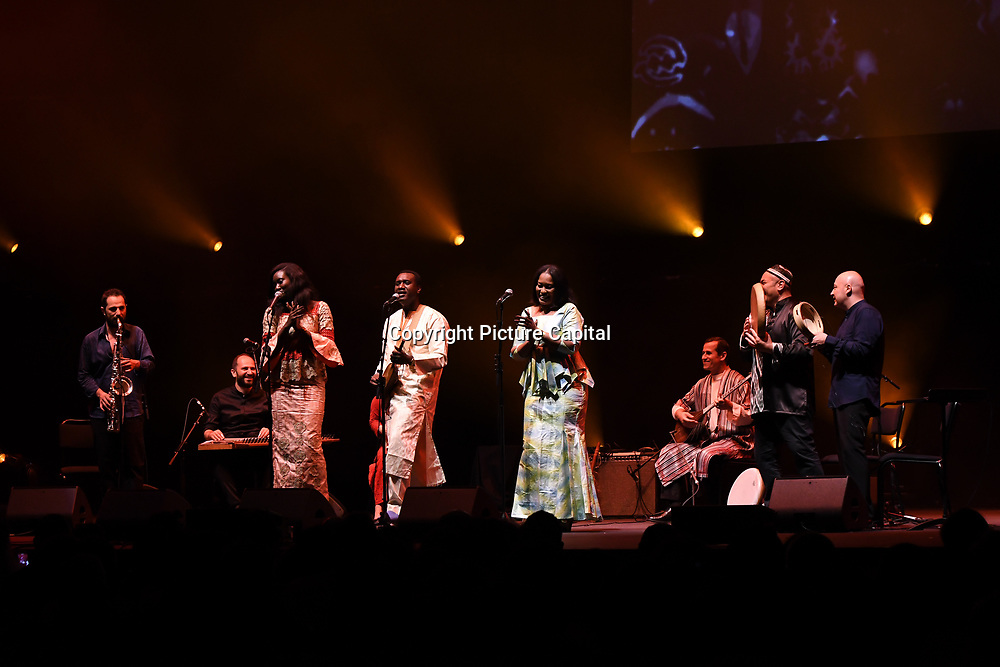 Jama Ko by Oumou Kouyate,Basel Rajoub & Amy Sacko at the Jubilee - Master Musicians of the Aga Khan Music Initiative at the Royal Albert Hall, London, UK on June 20 2018.