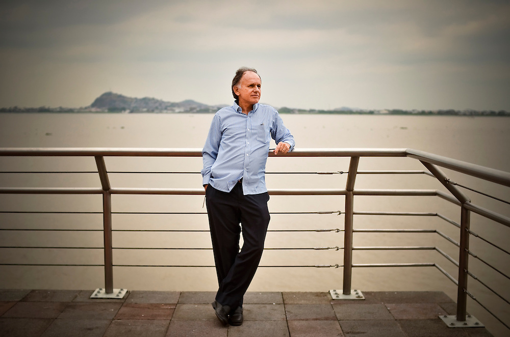 Juan José Illingworth, a software executive, poses for a portrait alongside the Guayas River in Guayaquil, Ecuador.  Illingworth has English bona fides that are hard to beat. He is the sixth generation namesake of an Englishman who went on to become one of Ecuador's national heroes, fighting for independence from Spain, helping to lead the young nation, founding its naval academy and drafting the law that freed the country's slaves. But for all of his keen appreciation of his family's ties to the old sod, when British authorities threatened last month to enter Ecuador's embassy in London to nab the asylum-seeking founder of WikiLeaks, Julian Assange, Mr. Illingworth's sentiments went decidedly against Mother England. ?I've always believed that an embassy is a bulwark of protection,? Mr. Illingworth, a former legislator said last week. ?England cannot violate that.? Mr. Illingworth is no fan of President Rafael Correa, who made the decision to grant asylum to Mr. Assange. And like others here he sees political motives behind the move. But when the tussle over Mr. Assange turned into a fight pitting tiny Ecuador against a powerful and imperious Great Britian, many in this politically divided country rallied round.