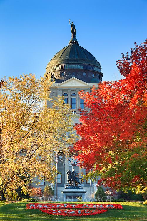Fall at Montana's Capitol building, Helena.