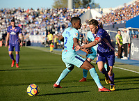 CD Leganes' Javier Eraso  and UD FC Barcelona's Nelson Semedo  during La Liga match. November 1,2017. (ALTERPHOTOS/Inma Garcia)