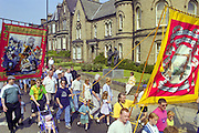 Whitemoor and North Selby banners, Yorkshire Miners Gala Barnsley 16/6//96