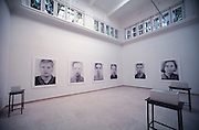 """VENICE, ITALY..June 1995..46th Biennale of Venice.German Pavillion..""""Andere Portraits"""" by Thomas Ruff..(Photo by Heimo Aga)"""