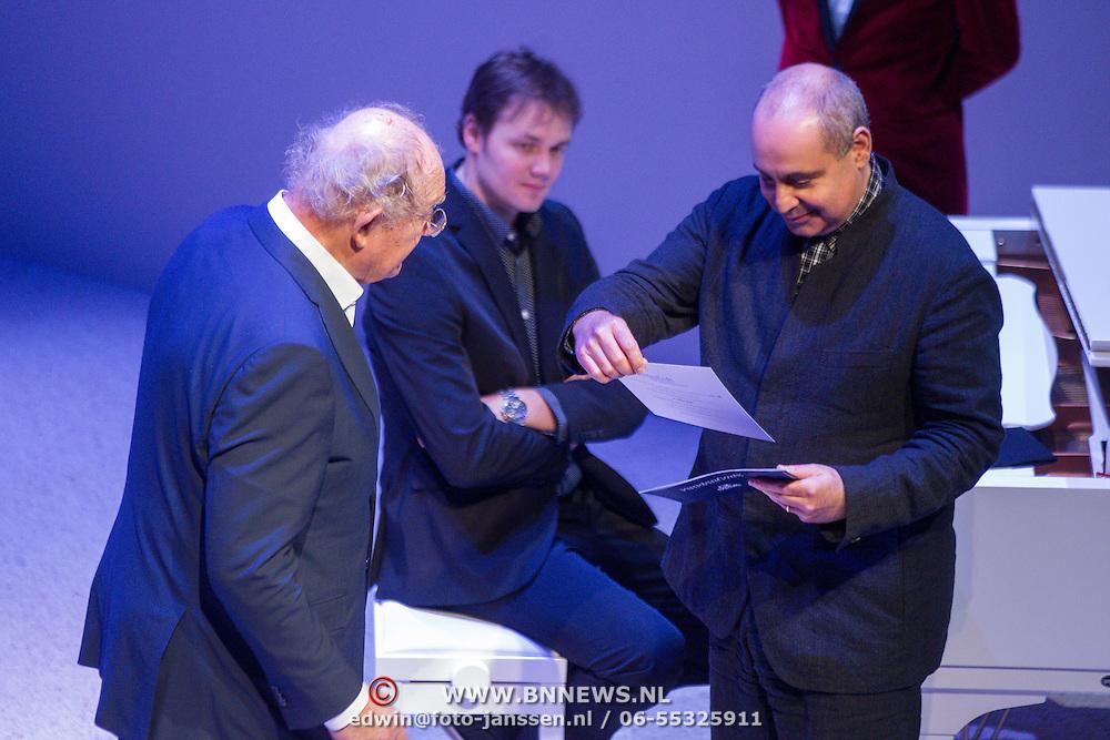NLD/Amsterdam/20151123 - 5 jaar Delamar theater en 10 Jaar Van den Ende Foundation viering, Joop van den Ende en Pierre Audi