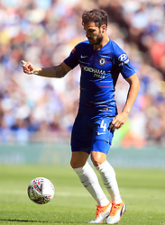 "Chelsea's Francesc Fabregas during the Community Shield match at Wembley Stadium, London. PRESS ASSOCIATION Photo. Picture date: Sunday August 5, 2018. See PA story SOCCER Community Shield. Photo credit should read: Adam Davy/PA Wire. RESTRICTIONS: EDITORIAL USE ONLY No use with unauthorised audio, video, data, fixture lists, club/league logos or ""live"" services. Online in-match use limited to 75 images, no video emulation. No use in betting, games or single club/league/player publications."