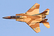 Israeli Air force Fighter jet F15I in flight.