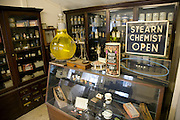 Old chemist shop interior, Museum of East Anglian Life, Stowmarket, Suffolk