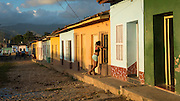 Afternoon light on backstreets of Trinidad, Cuba