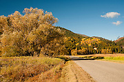 Idaho, Bonners Ferry.  Kootenai National Wildlife Refuge  in fall colors
