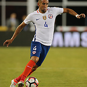 FOXBOROUGH, MASSACHUSETTS - JUNE 10: Mauricio Isla #4 of Chile in action during the Chile Vs Bolivia Group D match of the Copa America Centenario USA 2016 Tournament at Gillette Stadium on June 10, 2016 in Foxborough, Massachusetts. (Photo by Tim Clayton/Corbis via Getty Images)