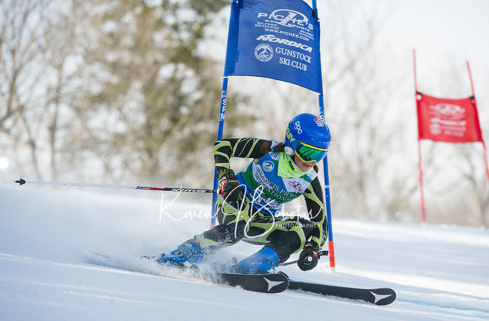 Piche Invitational U12 ladies first run 17Mar18.  ©2018 Karen Bobotas Photographer