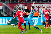 ENSCHEDE - 17-12-2016, FC Twente - AZ, Grolsch Velst Stadion, FC Twente speler Joachim Andersen, AZ speler Wout Weghorst