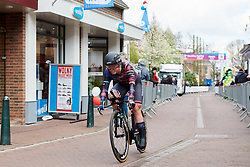 Lisa Klein (GER) crosses the line at Healthy Ageing Tour 2019 - Stage 4A, a 14.4km individual time trial starting and finishing in Winsum, Netherlands on April 13, 2019. Photo by Sean Robinson/velofocus.com