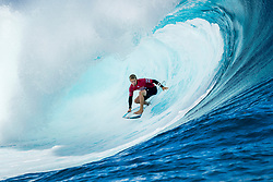 Aug 12, 2017 - Teahupo'o, French Polynesia, Tahiti - Kolohe Andino of the USA, current No.14 on the Jeep Leaderboard advanced to Round Four of the Billabong Pro Tahiti after defeating Sebastien Zietz of Hawaii in Heat 5 of Round Three. (Credit Image: © Kelly Cestari/World Surf League via ZUMA Wire)