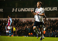 Harry Kane of Tottenham Hotspur celebrates scoring the final goal of the match in added on time during the Barclays Premier League match at White Hart Lane, London<br /> Picture by Jack Megaw/Focus Images Ltd +44 7481 764811<br /> 02/11/2015
