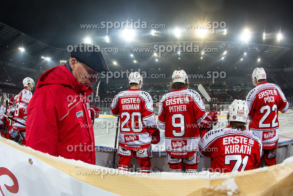 03.01.2015, Klagenfurter Wörthersee Stadion, Klagenfurt, AUT, EBEL, EC KAC vs EC VSV, 35. Runde, in picture Doug Mason (EC KAC Trainer) during the Erste Bank Icehockey League 35. Round between EC KAC and EC VSV at the Klagenfurter Wörthersee Stadion, Klagenfurt, Austria on 2015/01/03. Photo by Matic Klansek Velej / Sportida