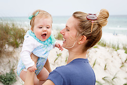 Family trip to Florida and first citing of the ocean by Little Princess Gemma at 8 months old, Thursday, April 26, 2018  at Condo and Seaside Shops in Fort Walton Beach and Seaside.