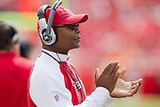 KANSAS CITY, MO - SEPTEMBER 26:   Head Coach Mike Singletary of the San Francisco 49ers claps for his team against the Kansas City Chiefs at Arrowhead Stadium on September 26, 2010 in Kansas City, Missouri.  The Chiefs defeated the 49ers 31-10.  (Photo by Wesley Hitt/Getty Images) *** Local Caption *** Mike Singletary