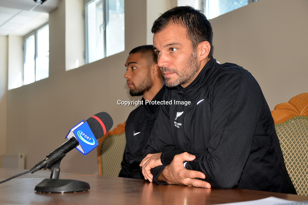 New Zealand Coach Anthony Hudson, All Whites v Uzbekistan Pre Match Press Conference, 7 September 2014. Photo: Nadirkhuja Yuldashev/www.photosport.co.nz