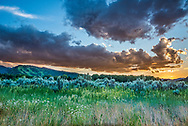 Sunset in Aspen in summer.