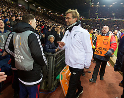 MANCHESTER, ENGLAND - Wednesday, March 16, 2016: Liverpool's manager Jürgen Klopp before the UEFA Europa League Round of 16 2nd Leg match against Manchester United at Old Trafford. (Pic by David Rawcliffe/Propaganda)