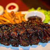 Mouth watering glazed (and meaty) spare ribs.