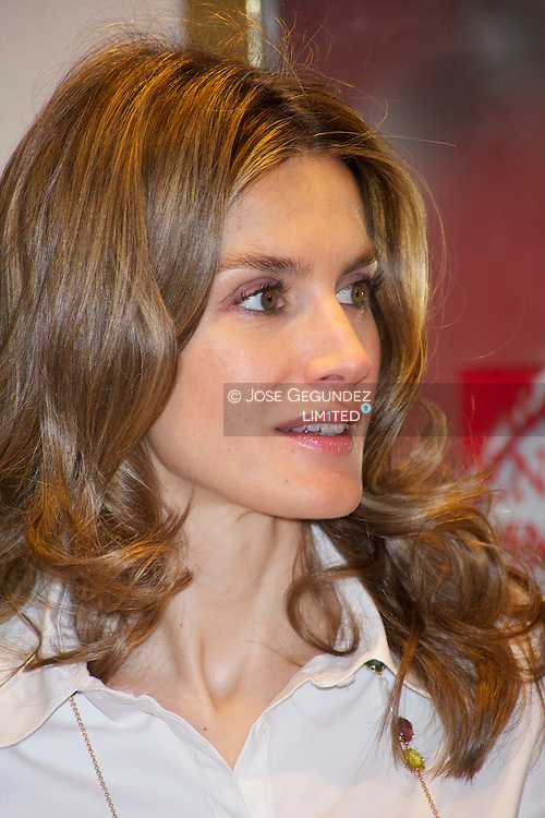 "Prince Felipe of Spain and Princess Letizia of Spain attends the Accreditation ceremony of the 4 th Promotion of ""Honorary Ambassadors Spain Brand"" at Mapfre Foundation in Madrid"