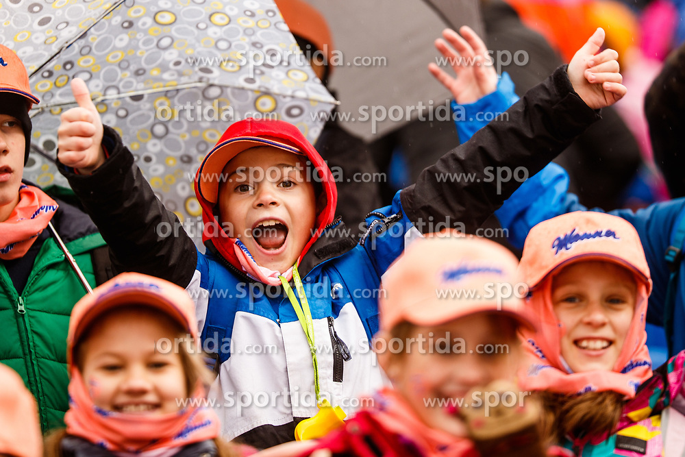 Young fan during the Ski Flying Hill Individual Qualification at Day 1 of FIS Ski Jumping World Cup Final 2017, on March 22, 2017 in Planica, Slovenia. Photo by Grega Valancic / Sportida