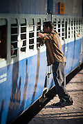 Man at Nampally Railway Station - Hyderabad, India