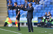 Brighton Manager, Chris Hughton during the Sky Bet Championship match between Reading and Brighton and Hove Albion at the Madejski Stadium, Reading, England on 31 October 2015.