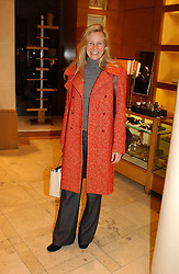 MISS ALANNAH WESTON daughter of Galen Weston at a party hosted by Burberry to launch their special collection in aid of Breakthrough Breast Cancer, held at 21-23 New Bond Street, London W1 on 5th October 2004.<br />