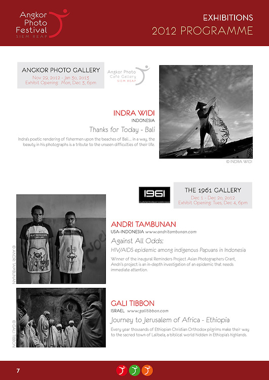 Angkor Photo Festival Exhibition of Against All Odds, 2012.