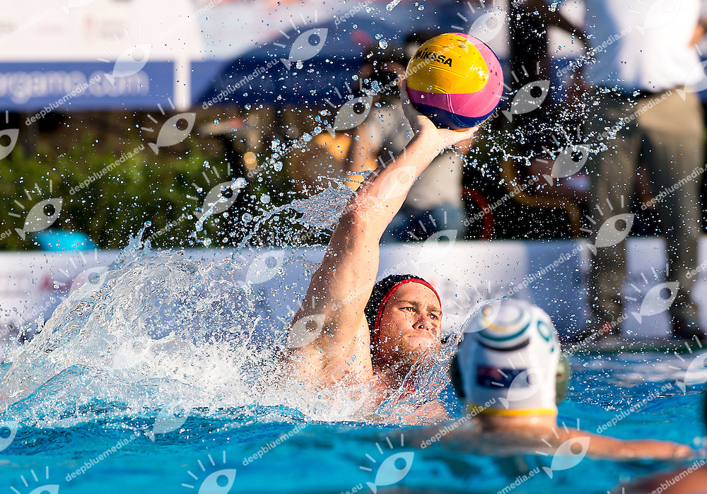 10 BONANNI Bret USA<br /> Australia AUS (white) - United States USA (blue)<br /> day 02 - 24/06/2015<br /> FINA Water Polo World League Superfinal Men<br /> Bergamo (ITA) 23-28 June 2015<br /> Photo G.Scala/Deepbluemedia
