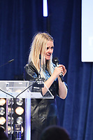 Edith Bowman on stage during the O2 Silver Clef Awards 2019, Grosvenor House, London, UK, Friday 05 July 2019<br /> Photo JM Enternational