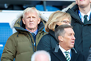Former Celtic and Scotland manager Gordon Strachan in the stand before the Betfred League Cup semi-final match between Heart of Midlothian FC and Celtic FC at the BT Murrayfield Stadium, Edinburgh, Scotland on 28 October 2018.