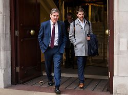 © Licensed to London News Pictures. 26/11/2018. London, UK. Labour Shadow Brexit secretary KEIR STARMER is seen in Westminster following a radio interview. The leaders of 27 EU states have approved an agreement on the UK's withdrawal and future relations. Photo credit: Ben Cawthra/LNP