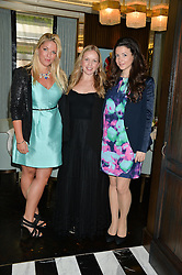 Left to right, GABBY WICKHAM, KATIE MARSHALL and SHIRLEY LEIGH-WOOD OAKES at the 'Ladies of Influence Lunch' held at Marcus, The Berkeley Hotel, London on 12th May 2014.