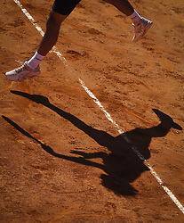 April 30, 2018 - Estoril, Portugal - Gastao Elias from Portugal serves to Alex de Minaur from Australia during the Millennium Estoril Open CCC round tennis tournament in Estoril, outskirts of Lisbon, Portugal on April 30, 2018  (Credit Image: © Carlos Costa/NurPhoto via ZUMA Press)
