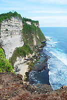 Impressive sea cliffs near Ulawati, Bali, Indonesia.