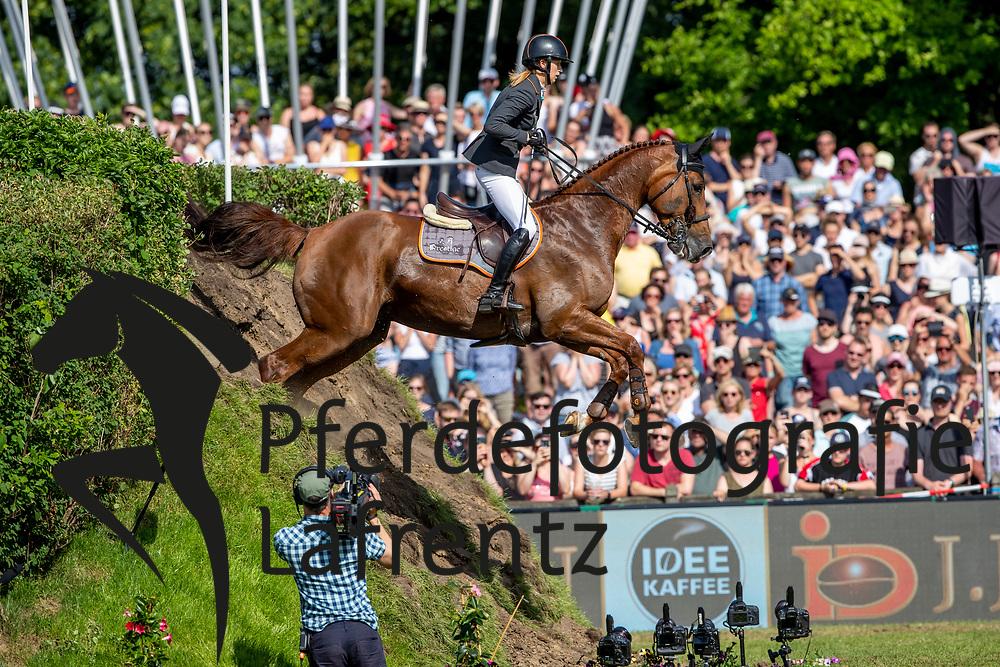 AUFFARTH Sandra (GER), Nupafeed's La Vista<br /> Hamburg - 90. Deutsches Spring- und Dressur Derby 2019<br /> J.J.Darboven präsentiert: <br /> 90. Deutsches Spring-Derby<br /> Bemer Riders Tour - Wertungsprüfung 3. Etappe <br /> CSI4* - Derby Tour Springprüfung mit Stechen<br /> 02. Juni 2019<br /> © www.sportfotos-lafrentz.de/Stefan Lafrentz