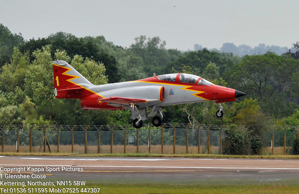 Patrulla Aguila, CASA C-101 Aviojet, Spanish Air Force,   Royal International Air Tattoo, RAF Fairford Gloustershire, Friday 17th July 2015Royal International Air Tattoo, RAF Fairford, Gloustetshire, 16th July 2015