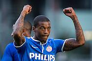 UTRECHT, FC Utrecht - PSV, voetbal Eredivisie seizoen 2014-2015, 26-10-2014, Stadion de Galgenwaard, PSV speler Georginio Wijnaldum heeft de 1-5 gescoord.