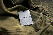 Israeli military uniform and dogtag