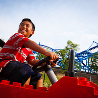 POLK COUNTY, FL - August 28, 2011 -- Children and parents get the run at the new rides at LEGOLAND® Florida, Central Florida's newest theme park.  Opening October 15, 2011 just outside Orlando, LEGOLAND Florida will provide interactive entertainment for families with children ages 2-12 . (PHOTO/LEGOLAND Florida, Merlin Entertainments Group, Chip Litherland).