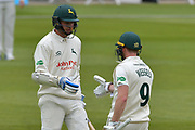 during the Specsavers County Champ Div 2 match between Nottinghamshire County Cricket Club and Sussex County Cricket Club at Trent Bridge, West Bridgford, United Kingdon on 21 April 2017. Photo by Simon Trafford.