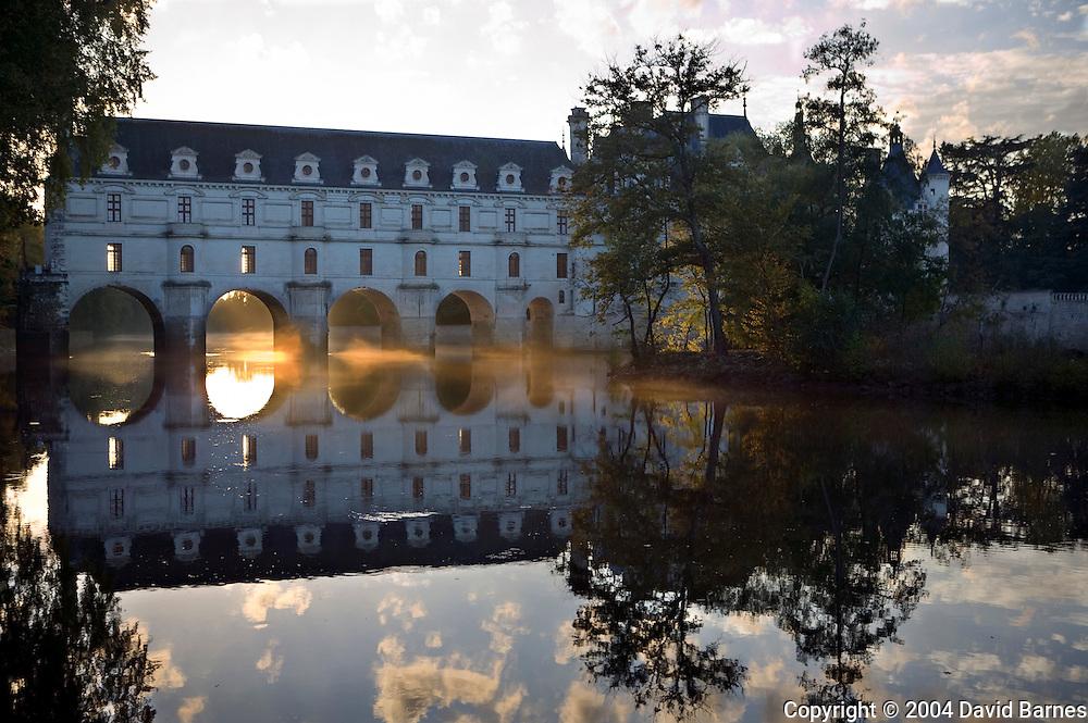 Chateau of Chenonceau, River Cher, Indre-et-Loire, Loire Valley, Centre, France