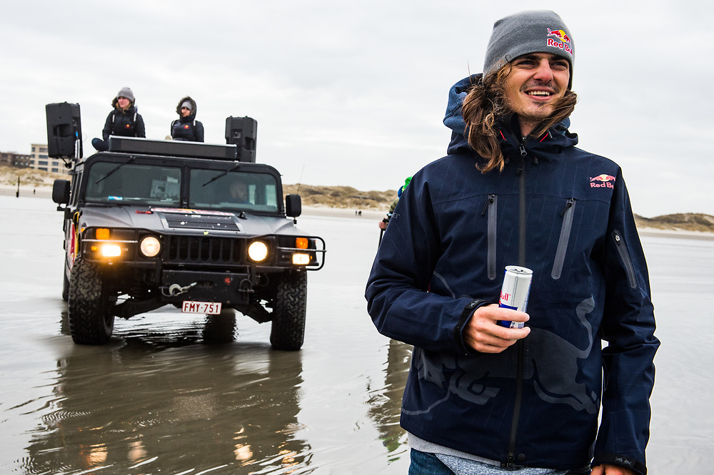 Christophe Tack at Red Bull Gone with the wind , in Oostduinkerke, Belgium on March 2, 2017 .