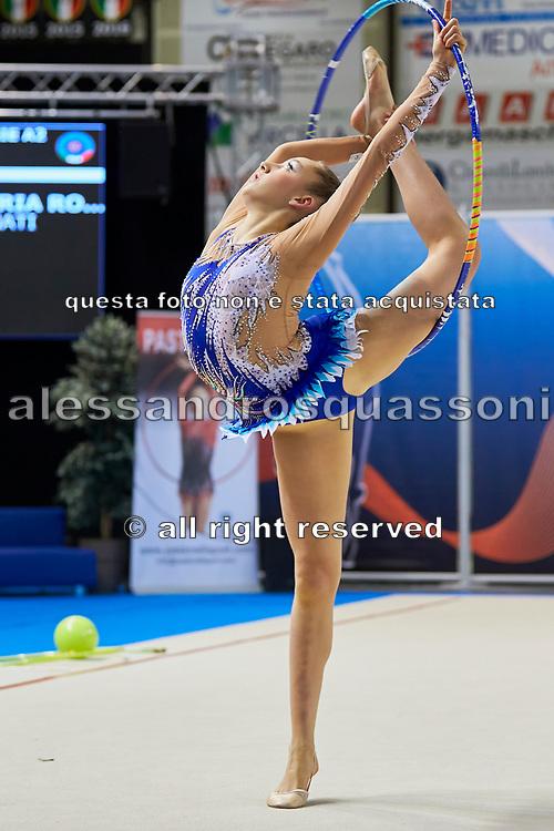 Maria Rosa Trincossi from Putinati team during the Italian Rhythmic Gymnastics Championship in Padova, 25 November 2017.