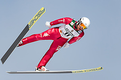 24.02.2017, Lahti, FIN, FIS Weltmeisterschaften Ski Nordisch, Lahti 2017, Nordische Kombination, Skisprung, im Bild Armin Bauer (ITA) // Armin Bauer of Italy during Skijumping of Nordic Combined competition of FIS Nordic Ski World Championships 2017. Lahti, Finland on 2017/02/24. EXPA Pictures © 2017, PhotoCredit: EXPA/ JFK